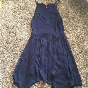 Chelsea & Violet Navy Knit Fit & Flair Dress Sz M